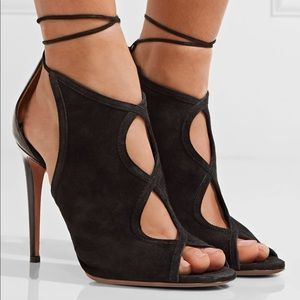 Black 'Nomad' sandals from Aquazzura